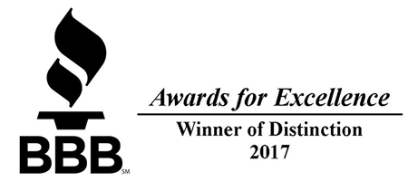 BBB 2017 Winner of Distinction